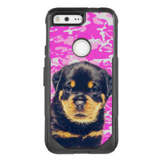 Rottweiler with Pink Camo OtterBox Commuter Google Pixel Case