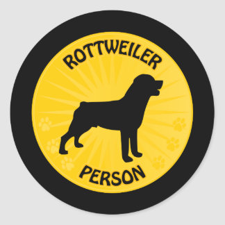 Rottweiler Xing Classic Round Sticker