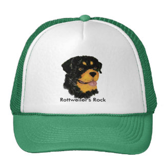 Rottweiler's Rock Trucker Hat
