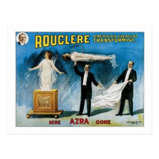 Rouclere ~ America's Greatest Transformist Postcard