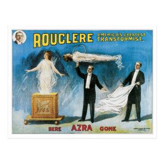 Rouclere ~ Transformist Magician Vintage Magic Act Postcard
