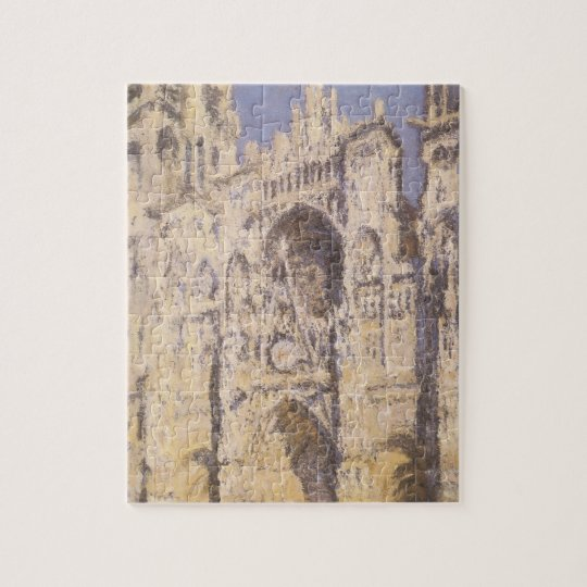 Rouen Cathedral, Harmony Blue Gold by Claude Monet Jigsaw Puzzle