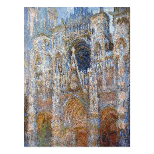 Rouen Cathedral, Magic in Blue by Claude Monet Postcard