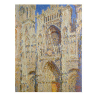 Rouen Cathedral, Portal in the Sun by Claude Monet Postcard