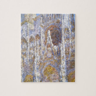Rouen Cathedral, Sunlight Effect by Claude Monet Jigsaw Puzzle