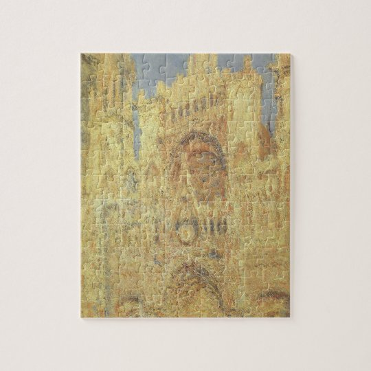 Rouen Cathedral, Sunset by Claude Monet Jigsaw Puzzle