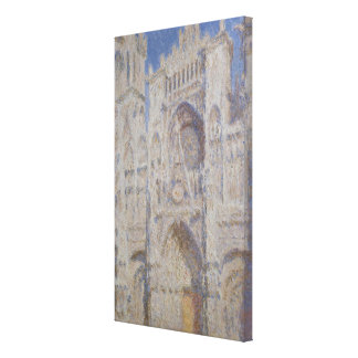 Rouen Cathedral The Portal Sunlight Canvas Print