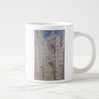 Rouen Cathedral The Portal Sunlight Large Coffee Mug