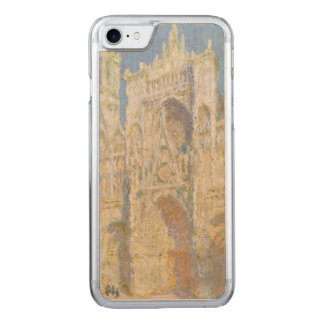 Rouen Cathedral West Facade Sunlight by Monet Carved iPhone 7 Case