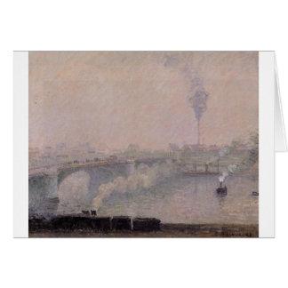 Rouen, Fog Effect by Camille Pissarro Card