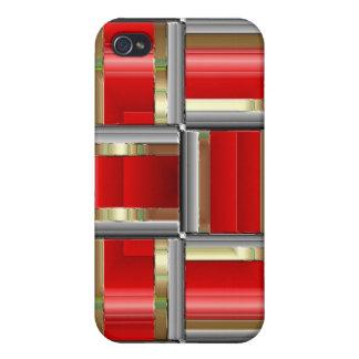 Rouge cubé coques iPhone 4