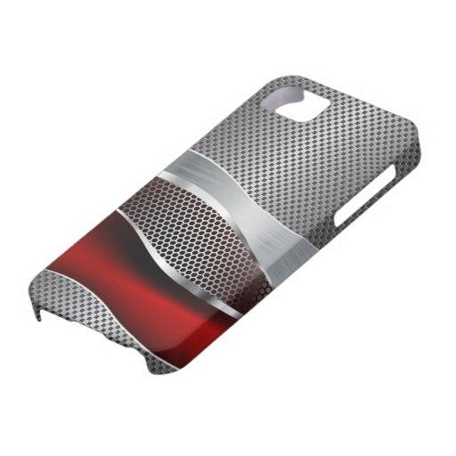 Rouge de chrome futuriste de pointe de maille coques Case-Mate iPhone 5