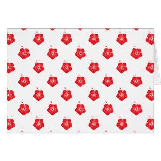 Rouge du motif de fleur 3 cartes de vœux