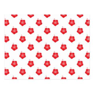 Rouge du motif de fleur 3 carte postale