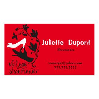 Rouge élégant de cordonnier de tailleur avec etsy carte de visite standard