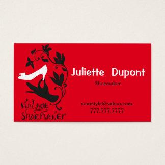 Rouge élégant de cordonnier de tailleur avec etsy cartes de visite