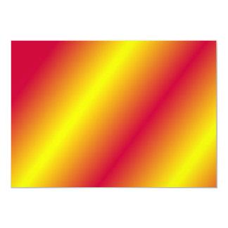 Rouge et or carton d'invitation  12,7 cm x 17,78 cm