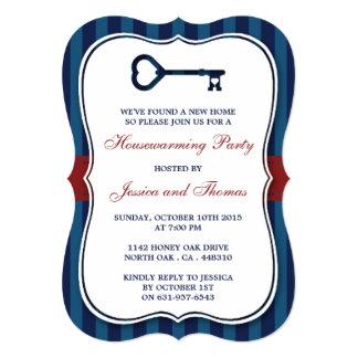 Rouge et pendaison de crémaillère à la maison de carton d'invitation  12,7 cm x 17,78 cm