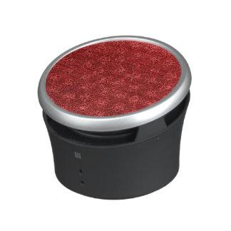 Rouge floral vintage haut-parleur