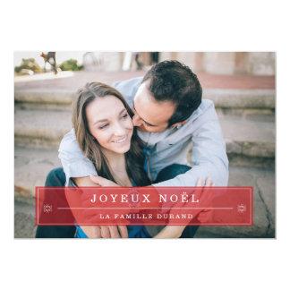 """Rouge Noël Cartes de Photo 5"""" X 7"""" Invitation Card"""