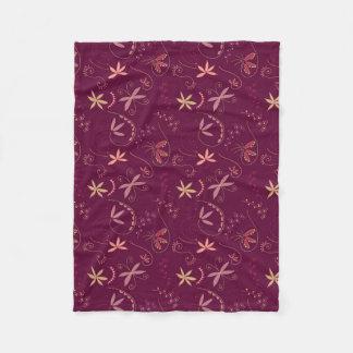 Rouge swirls and twirls fleece blanket