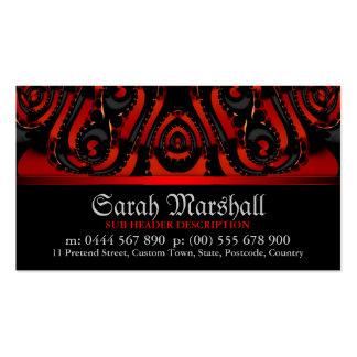 Rouge+Tribal gothique noir avec le carte de visite