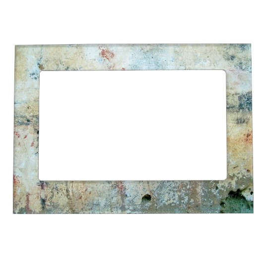 Rough Abstract White Painting Picture Frame Magnets
