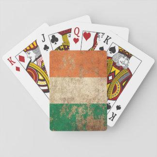 Rough Aged Vintage Irish Flag Playing Cards
