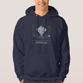 Rough And Buff Men's Hooded Diamond Sweatshirt