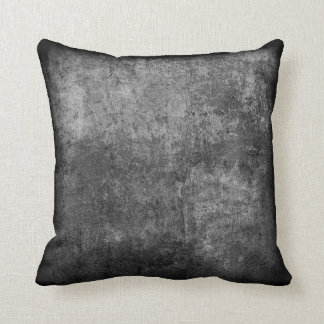 Rough black and white textured plaster throw pillow