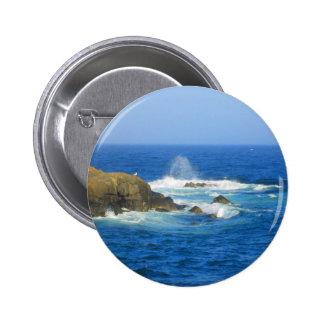 Rough Cape Neddick Coast 2 Inch Round Button