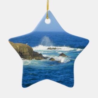 Rough Cape Neddick Coast Ceramic Star Ornament
