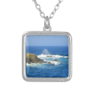 Rough Cape Neddick Coast Silver Plated Necklace