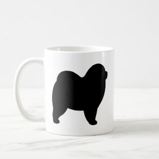 Rough Chow Chow Silhouettes Coffee Mug