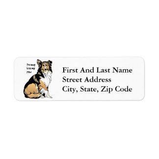 Rough Collie Aristocrat Custom Return Address Labels