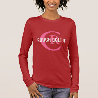 Rough Collie Breed Monogram Design Long Sleeve T-Shirt