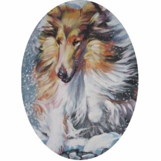 rough collie Christmas Ornament Photo Sculpture Ornament