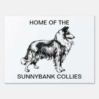 Rough Collie dog custom breeders yard sign
