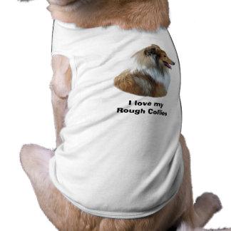 Rough Collie dog portrait photo Dog T-shirt