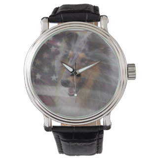 Rough Collie Wrist Watches