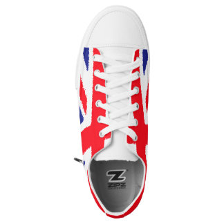 Rough edge Union Jack, white tongue Low-Top Sneakers