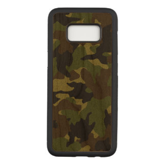 Rough Green Camo Wood Grain Samsung Galaxy S8 Case