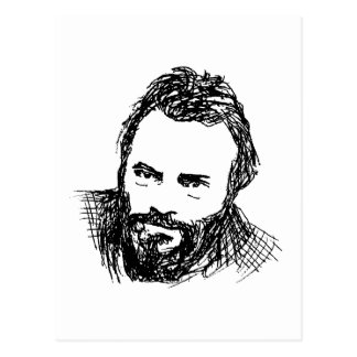 Rough Ink Sketch of Hitch Postcard