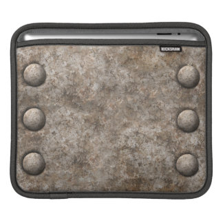 Rough Metal w/Rivets Design iPad Sleeve