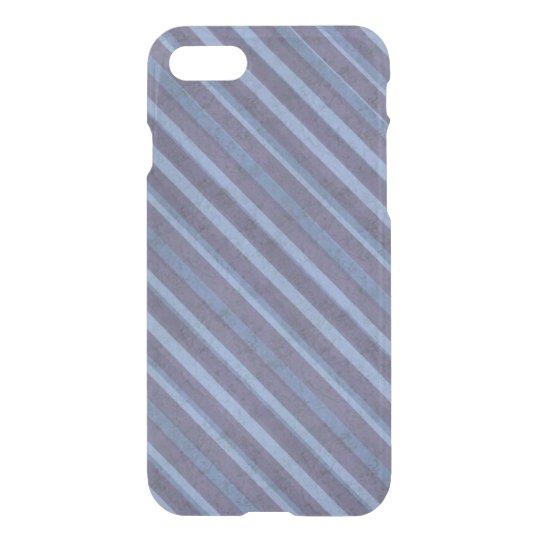 Rough Purple Blue Stripe Deflector iPhone 7 Case