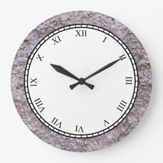 Rough Raw Beton Gray Construction Wall Large Clock