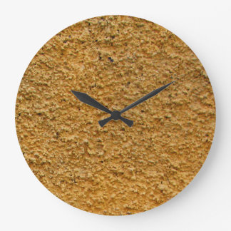 Rough Raw Beton Yellow Construction Wall No Digits Large Clock
