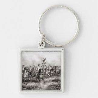 Rough Riders : Colonel Theodore Roosevelt Porte-clé Carré Argenté