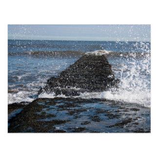 Rough Sea Photograph Postcard