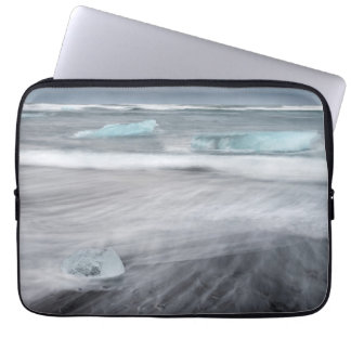 Rough Seascape with ice, iceland Computer Sleeve